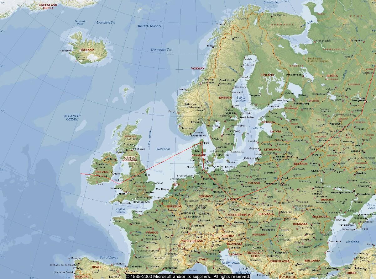Karta Evrope Atlas Superjoden