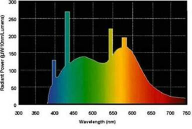 Electromagnetic Spectra Of Light Bulbs