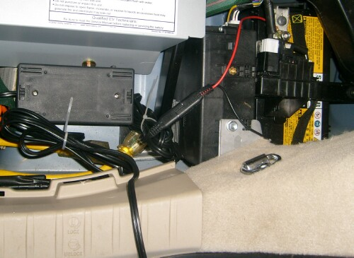 roper prius hymotion plug in conversion the black box on the left is the trickle charger its black double input wire and plug is left hanging out the back of the trunk