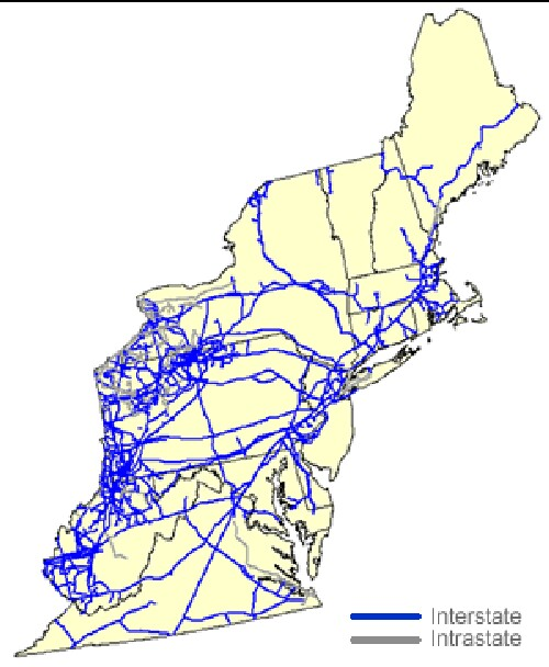 NaturalGas Pipelines - Map us gas pipelines