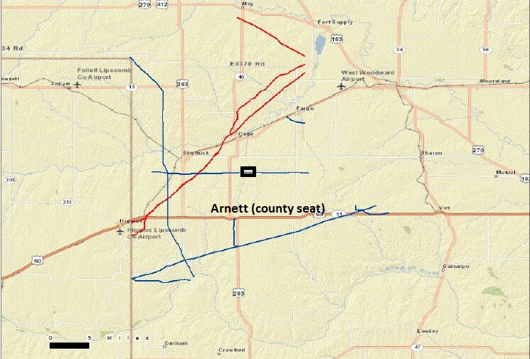 As A Personal Privilege I Include A Pipeline Map Of My Birth County Ellis County Ok Red Gas Blue Hazardous Liquid