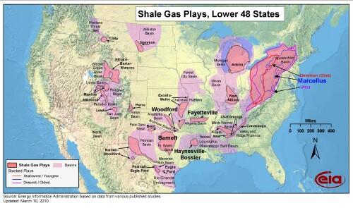 Shale NaturalGas Depletion - Us shale gas map